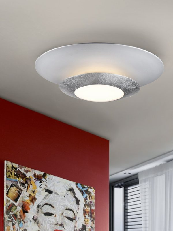 PLAFÓN LED HOLE PLATA Ø42