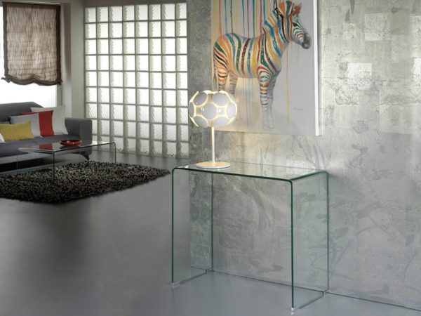 CONSOLA GLASS TRANSPARENTE
