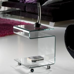 MESA AUXILIAR GLASS TRANSPARENTE